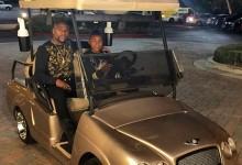 El campeón de boxeo, Floyd Mayweather, regala a su hijo un Bentley de golf por su 15 cumpleaños