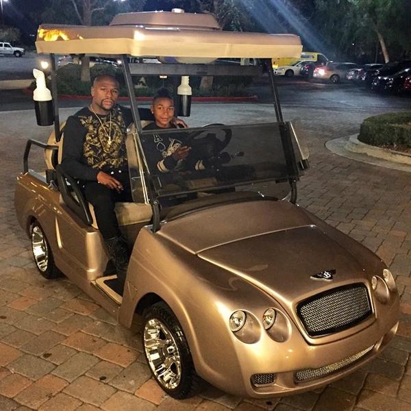 Floyd Mayweather buggie Bentley