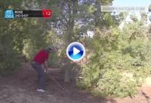 El inglés Justin Rose emuló al gran Seve en este fantástico golpe de recuperación (VÍDEO)