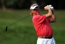 Miguel Ángel Jiménez, el «hombre más interesante» del golf anotó 13 golpes en su último hoyo, par 4