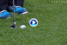 El chip prodigioso de Sergio García, desde el rough con madera 3 y la bola medio hundida (VÍDEO)