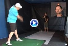 ¿Sería usted capaz de ponerse en la trayectoria de una pelota de golf golpeada con un driver? (VÍDEO)