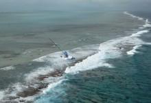Primera imagen aérea del Team Vestas Wind embarrancado