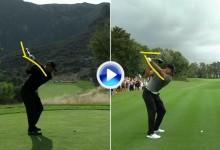 Vea la comparativa y análisis del swing de Tiger Woods entre el pasado año y este (VÍDEO)