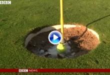 ¿Hoyos gigantes para recuperar jugadores? Un periodista de la BBC abre el debate (VÍDEO)