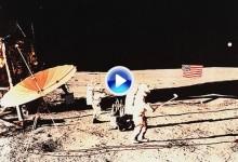 Un 6 de febrero de hace 44 años, el hombre jugó al golf por primera vez en la luna (VÍDEO)