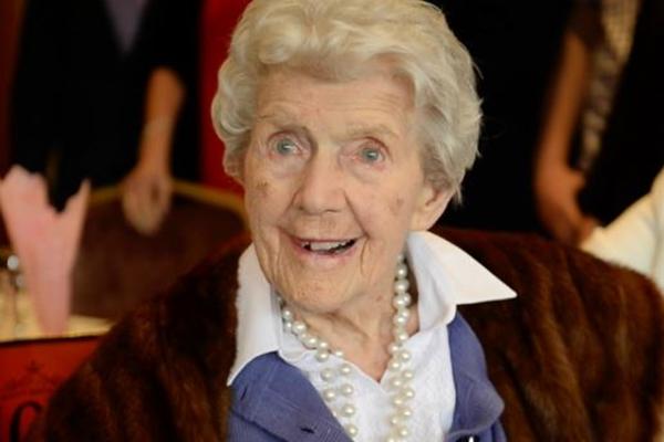 Alice O'Donovan el dia que cumplió 100 años