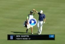 Taylor anotó el primer birdie del 2015 en el PGA Tour y Martin se adjudicó el golpe del día (VÍDEOS)