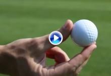 Así reacciona una bola, la mitad con hoyuelos y la otra mitad sin ellos, al ser golpeada (VÍDEO)