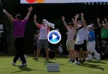 Alucinó: Hoyo en Uno de un amateur en el Coliseo del 16 durante el ProAm del Phoenix Open (VÍDEO)