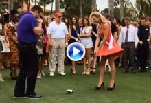 ¿Se puede jugar al golf con tacones? Aspirantes a Miss Universo dieron su primer golpe (VÍDEO)