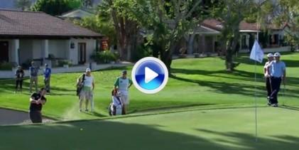Mickelson protagonizó el golpe del día en el PGA Tour con esta gran sacada de bunker (VÍDEO)