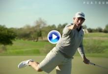 Scott Stallings recrea algunas de las celebraciones más famosas en el mundo del golf (VÍDEO)