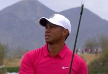 Tiger Woods se va más allá del puesto 100 en su retorno. Buen debut del vasco Jon Rahm-bo