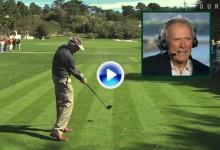 Vea el swing a cámara super lenta de Clint Eastwood a sus casi 85 años de edad (VÍDEO)
