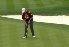 El amateur Jon Rahm-bo deslumbra en Phoenix. Es Top 5 en la tabla a pesar de un virus estomacal