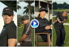 Rory McIlroy y Tiger Woods juntos, pero no revueltos, en el último anuncio de Nike (VÍDEO)