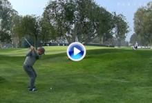 Birdie de Ryan Moore tras ejecutar el Flop Shot perfecto en el 10 del Riviera Country Club (VÍDEO)