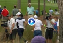 Sergio García y Martin Kaymer salieron a la carrera buscando un retrete que estaba ¡ocupado! (VÍDEO)