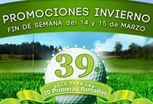 ASR Golf mantiene su «Promoción de Invierno»: Green Fee, Buggie y Menú degustación, 39 euros