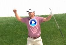 Técnica: 10, Dificultad: 10. Daniel Berger ejecutó el golpe perfecto desde el bunker (VÍDEO)