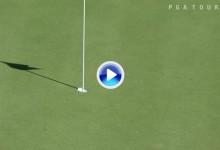 Una corbata cruel priva a John Peterson de un Hoyo en Uno en el Valero Texas Open (VÍDEO)