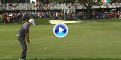 El magnífico golpe de McIlroy, que le valió un birdie, tuvo un final con suspense (VÍDEO)