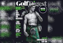 McIlroy, como si del David de Miguel Ángel se tratara, en la nueva portada de Golf Digest con kilt