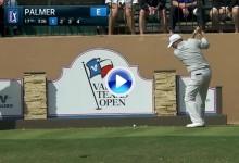 Cañonazo de Palmer desde el tee de salida. Dejó la bola a 2 m. de bandera desde más de 300 (VÍDEO)