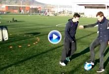 McIlroy vs. J. Dornan (50 sombras de Grey): duelo de estrellas para promover el Circular Soccer (VÍDEO)
