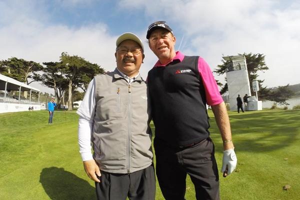 Miguel Angel Jimenez y Lee alcalde de San Francisco Foto @WGC_MatchPlay