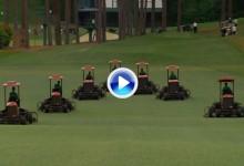 Así prepara este ejército de segadoras el Augusta National ¿el mejor campo del mundo? (VÍDEO)