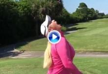 Brittany Lincicome autora del Trick Shot más dulce del año (VÍDEO)