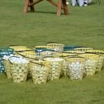 Bolas de prácticas preparadas. Foto: OpenGolf.es