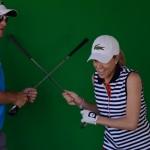 Adriana Zwanck y su batalla de palos. Foto: OpenGolf.es