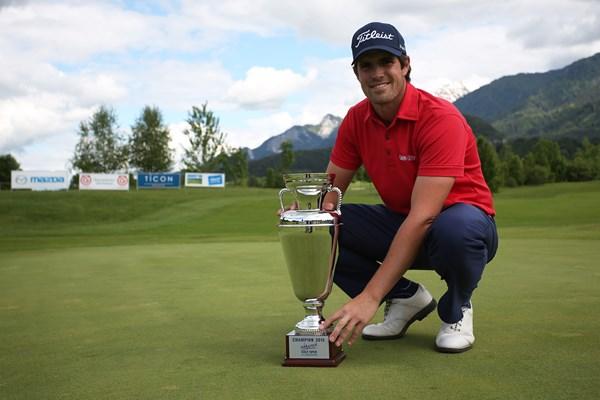 Nacho Elvira campeón en Austria. Foto: GEPA-Challenge Tour
