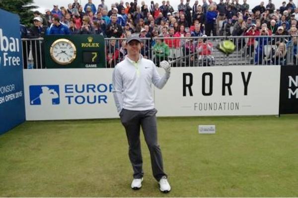 Rory McIlroy en el Irish Open. Foto: @EuropeanTour