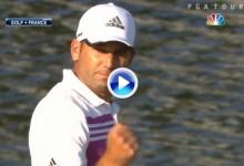 Este increible putt de Sergio García en la isla del 17 dio la vuelta al mundo (VÍDEO)