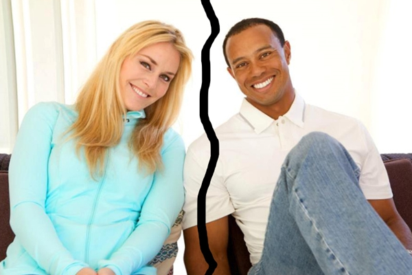 Tiger Woods y Lindsey Vonn cuando dieron a conocer su relación, eran otros tiempos