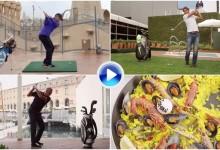 Sergio García, Rafa Nadal y Johan Cruyff se retan jugando al golf en Barcelona (VÍDEO)