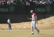 Dustin Johnson se fue a jugar al golf con los Gretzky, su familia política, tras perder el US Open