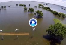 El Lake Lewisville Golf Club de Texas, anegado por las lluvias del pasado fin de semana (VÍDEO)
