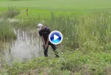 Este golpe de Kaymer con los pies en el agua, considerado el mejor de junio en el Tour (VÍDEO)