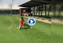 Pique sano de Pablo Larrazábal con Jon Rahm y su Flop Shot: ¿que tal con un hierro 3? (VÍDEO)