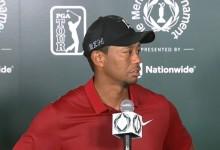 """Tiger, optimista con su juego pese al +14 en el Memorial: """"Después del parón debo ir paso a paso"""""""