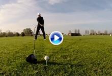 Los Trick Shots de Karsten Maas, el hombre con el driver más largo del mundo, 4,37 metros (VÍDEO)