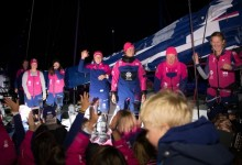 Victoria histórica del equipo femenino Team SCA en la etapa 8 de la Volvo Ocean Race