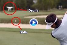 Donde pone el ojo pone la bola. Bubba derriba un dron con uno de sus terribles golpes (VÍDEO)