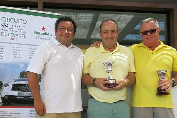 Circuito Infiniti Levante, ganadores en Roda Golf junto a Carlos Marín, organizador del evento