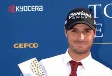 Kyocera mantiene su apuesta por el golf, patrocinará al extremeño Javi Colomo